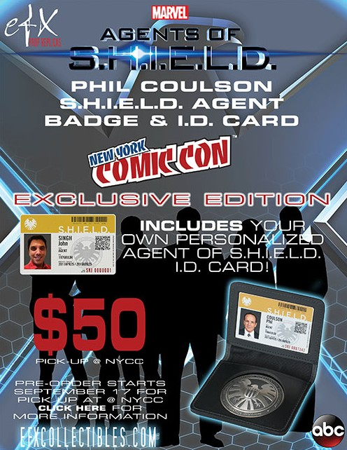 NYCC 2013 Exclusive eFX Agents of SHIELD Agent Badge & ID Card
