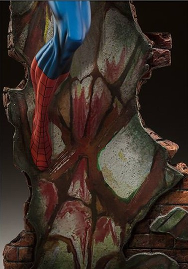 Sideshow J Scott Campbell Spider-Man Wall Close-Up