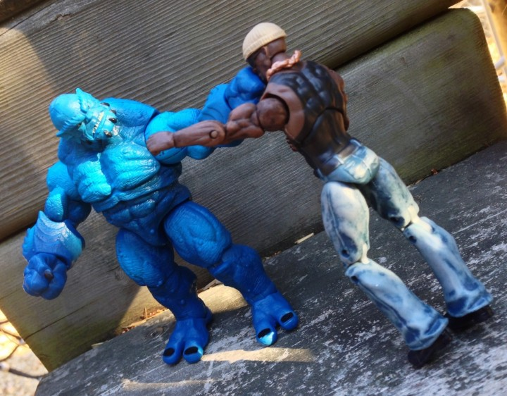 "Marvel Universe A-Bomb vs Luke Cage Figures 4"" Hasbro"