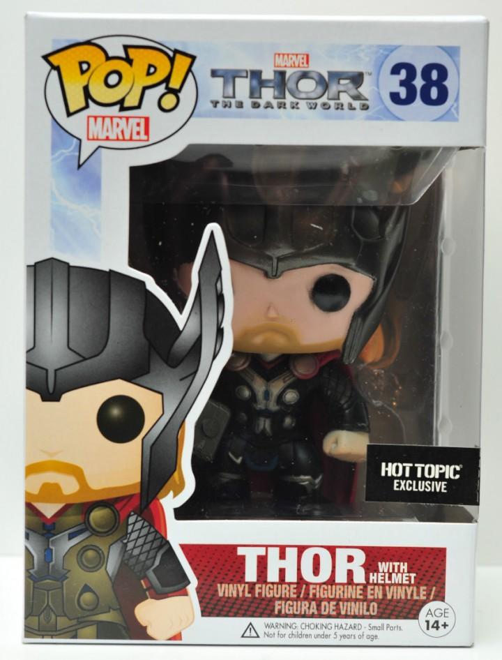 Funko Thor The Dark World Thor with Helmet POP Vinyls Hot Topic Exclusive Figure