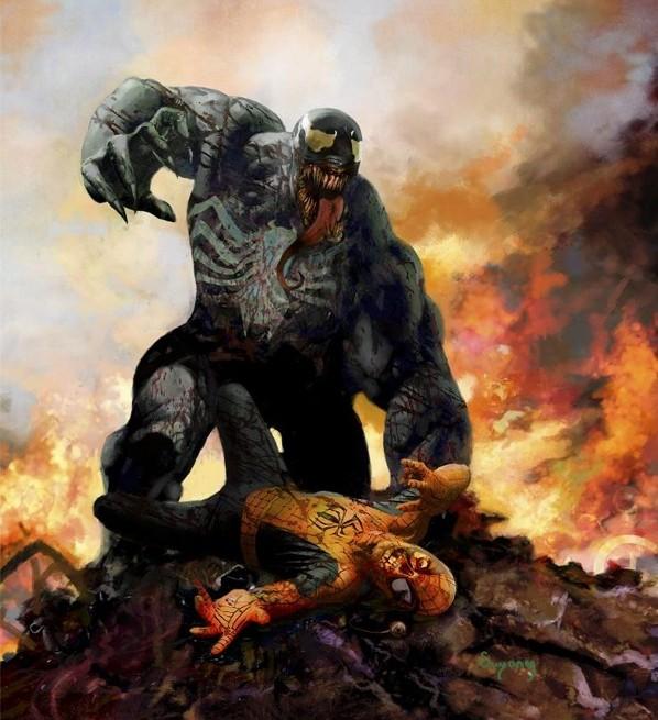Marvel Zombies Hardcover Cover Zombie Venom vs. Spider-Man