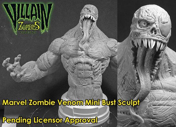 Marvel Zombies Venom Mini Bust Prototype Gentle Giant Ltd