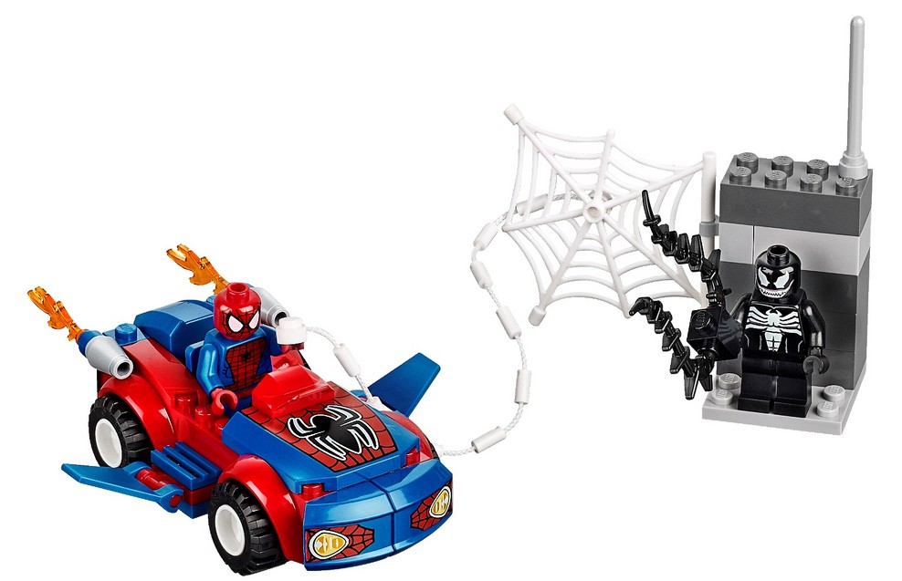 2014 LEGO Marvel Spider Man Spider Car Pursuit 10665