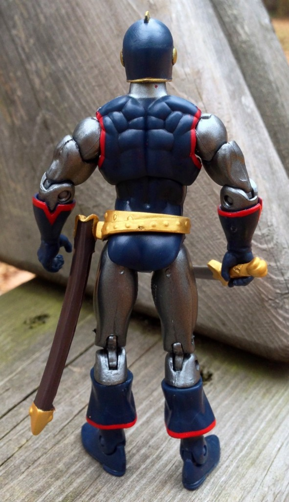 Black Knight Marvel Universe Figure Back without Cape