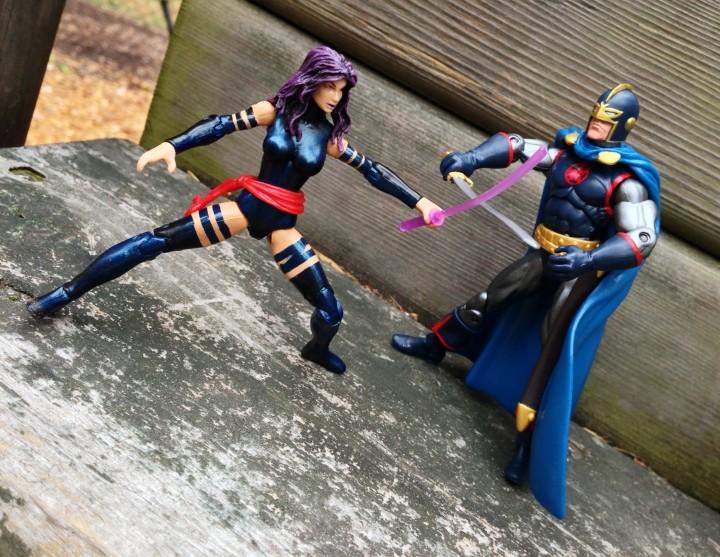 Hasbro Marvel Universe Psylocke vs. Black Knight Action Figures