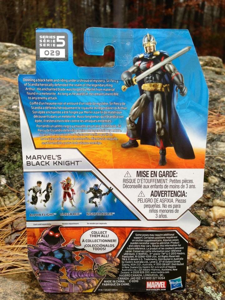 Marvel Universe Black Knight Cardback
