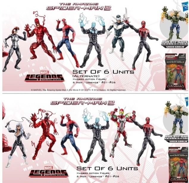 Amazing Spider-Man 2 Marvel Legends Variants Photo