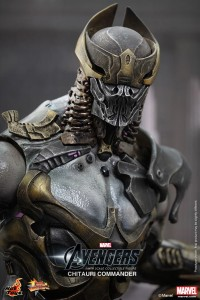 Avengers Hot Toys Chitauri Commander Figure Helmet Head Close-Up