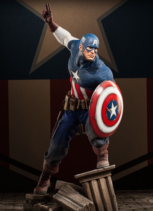 Captain America Premium Format Figure Statue 2014 Sideshow Collectibles