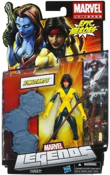 Marvel Legends Dani Moonstar Running Change Variant Figure Packaged