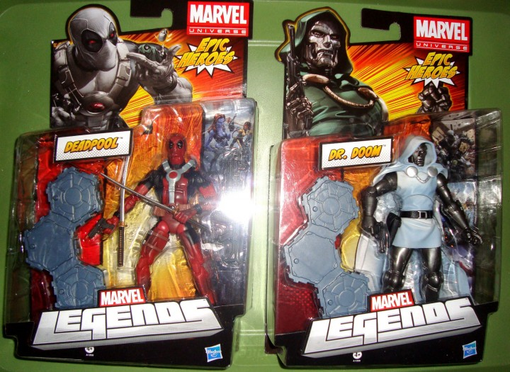 Marvel Legends Red Deadpool and White Dr. Doom Running Change Variants Released