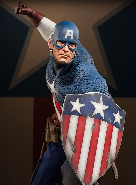 Sideshow Captain America Allied Charge on Hydra Premium Format Figure 2014
