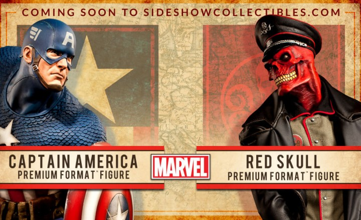 Sideshow Collectibles Captain America vs. Red Skull Premium Format Figures 2014