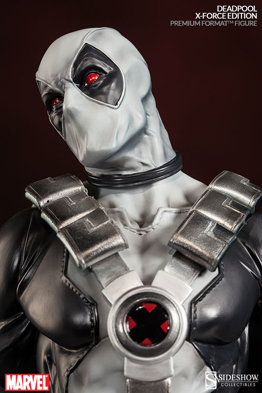 Sideshow Collectibles X-Force Deadpool Premium Format Figure Head Close-Up