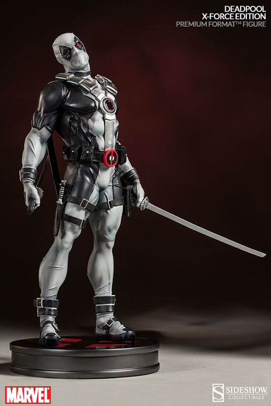 Sideshow Premium Format Deadpool X-Force Statue with Swords