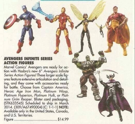 Avengers Infinite Series Figures Wave 1 2014 Hasbro