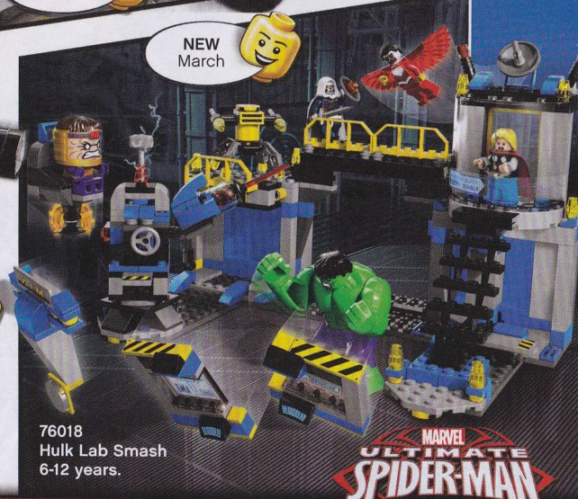 2014 LEGO Marvel Hulk Lab Smash 76018 Set