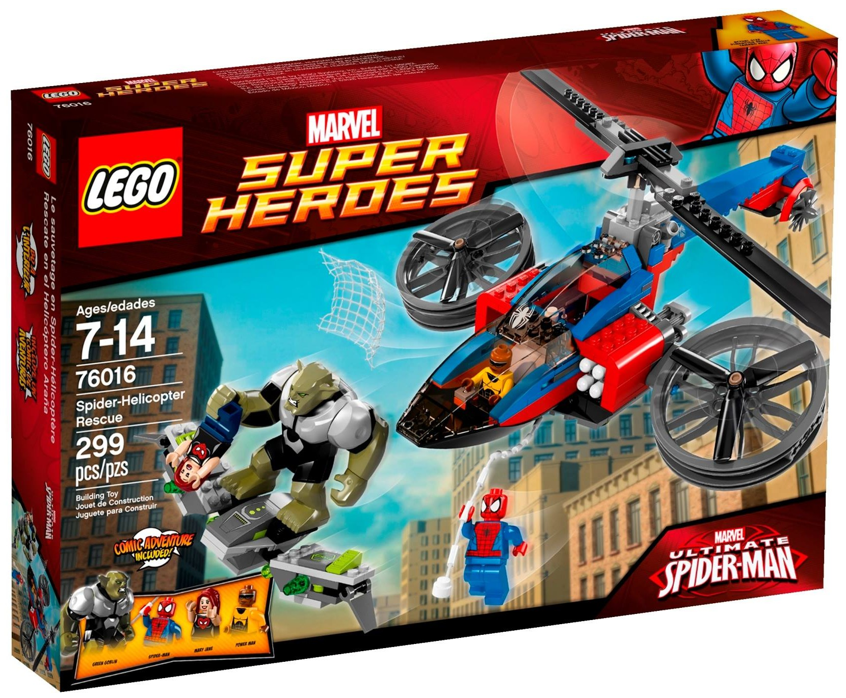 lego marvel 2014 spiderhelicopter rescue 76016 photos
