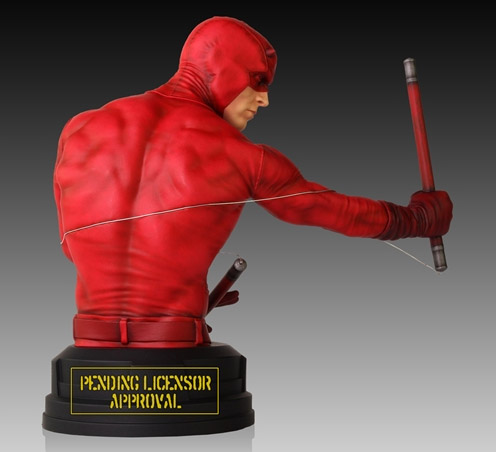 Back of 2014 Gentle Giant Premier Guild Exclusive Daredevil Bust