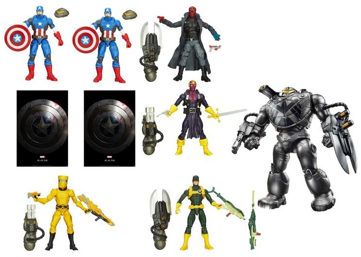 Captain America The Winter Soldier Marvel Legends 2014 Series with Mandroid Build A Figure