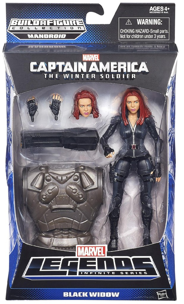 Captain America The Winter Soldier Marvel Legends Black Widow Figure Packaged