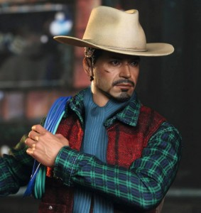 Iron Man 3 Hot Toys Cowboy Tony Stark Sixth Scale Figure Milk Exclusive