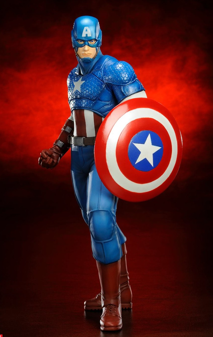 captain america kotobukiya avengers now artfx statue preview marvel toy news. Black Bedroom Furniture Sets. Home Design Ideas