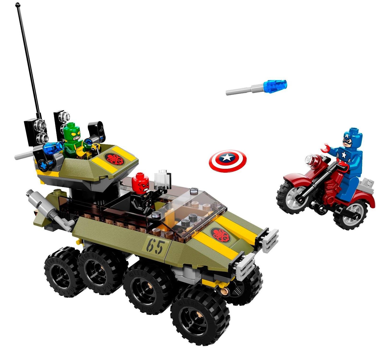 Lego Marvel Toys : Lego marvel captain america vs hydra set