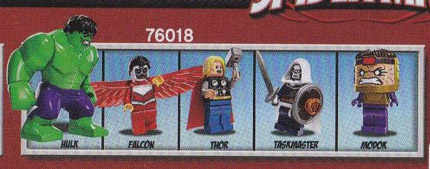 LEGO Marvel 2014 Minifigures from LEGO Hulk Lab Smash 76018 MODOK Falcon Taskmaster