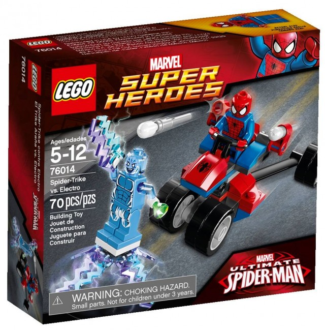 LEGO Marvel Superheroes Spider-Trike vs. Electro 76014 Box
