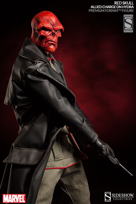 Premium Format Red Skull Allied Charge on Hydra Exclusive Edition with Extra Head