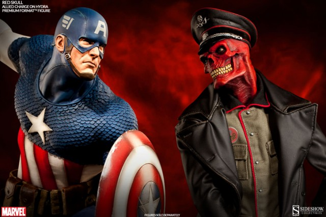 Sideshow Captain America vs Red Skull Allied Charge on Hydra Premium Format Figure Statues