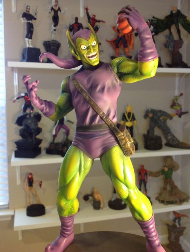 Bowen Designs Green Goblin Museum Pose Statue Close-Up