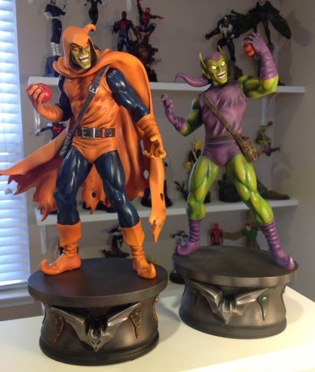 Bowen Designs Hobgoblin and Green Goblin Statues Comparison