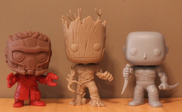 Funko Guardians of the Galaxy Figures Prototypes Drax Starlord Groot