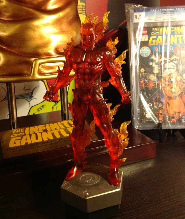 Human Torch Bowen Designs Statue 2014
