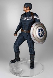 Side of Gentle Giant Captain America Stealth Costume Statue