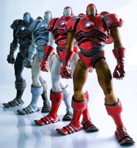 ThreeA Toys Iron Man Figures Classic Stealth Silver Centurion Stark Industries Prototype