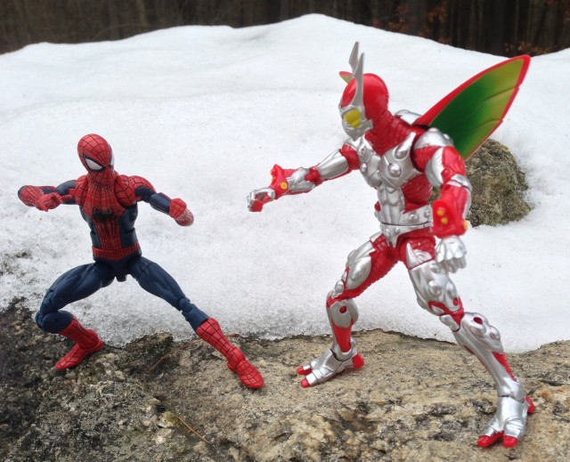 2014 Marvel Legends Ultimate Beetle vs Amazing Spider-Man 2 Spidey Figures