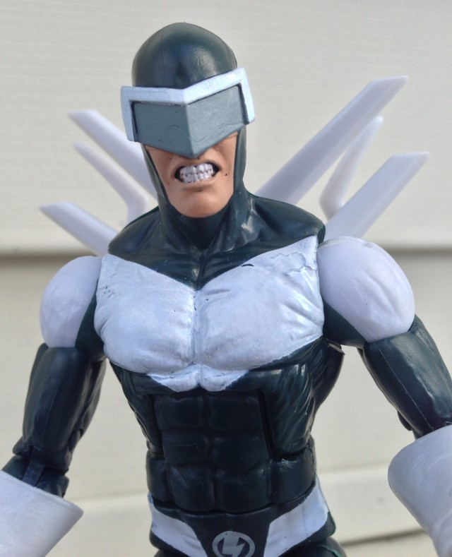 Marvel Legends Spider-Man Boomerang Figure Close-Up Paint Defects