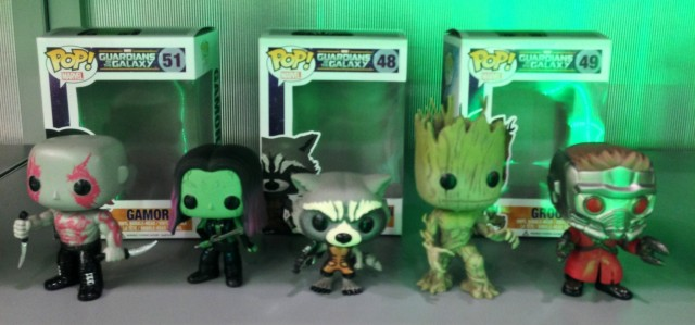 New York Toy Fair 2014 Guardians of the Galaxy Funko Complete Team POP Vinyls