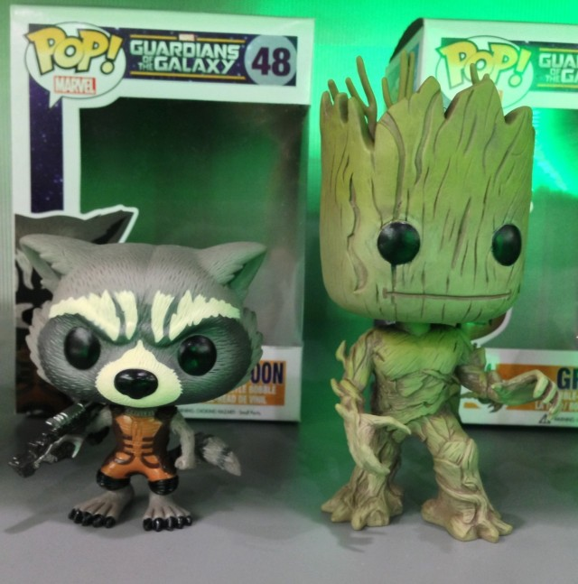 Funko POP Vinyls Rocket Raccoon and Groot Figures Toy Fair 2014