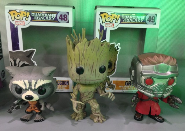 Funko Toy Fair 2014 POP Vinyls Groot Starlord Rocket Raccoon