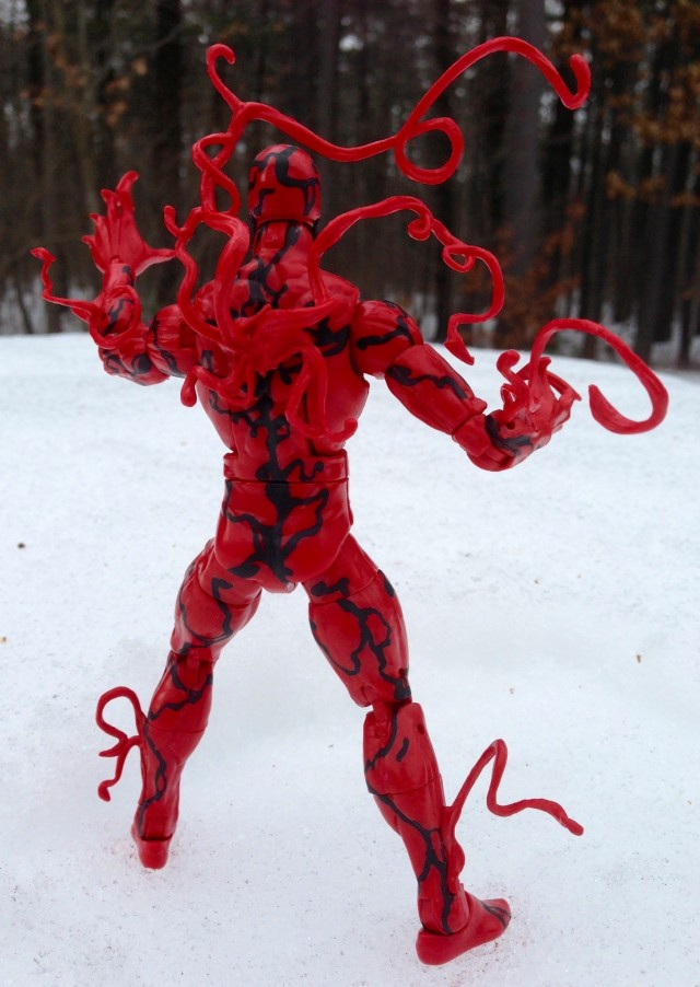 Amazing Spider-Man 2 Marvel Legends Infinite Series Carnage Figure Back
