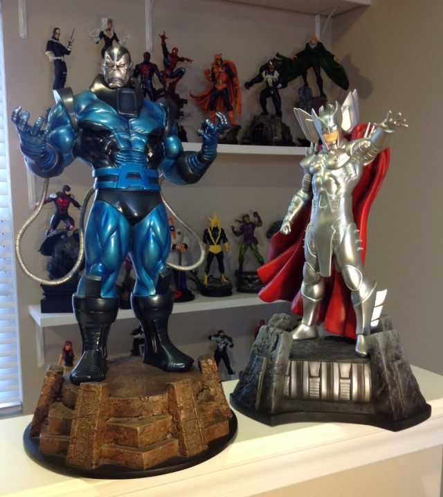 Bowen Apocalypse and Stryfe Statues Marvel X-Men