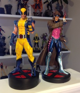 Bowen Designs Astonishing Wolverine Statue with Gambit Statue X-Men