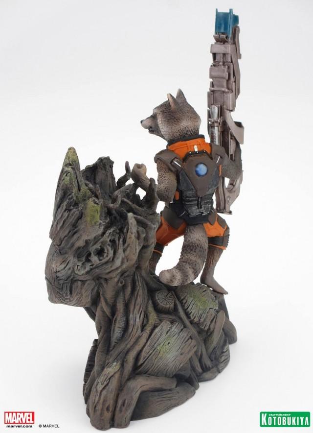 Guardians of the Galaxy Kotobukiya Groot Rocket Raccoon Statue 2014