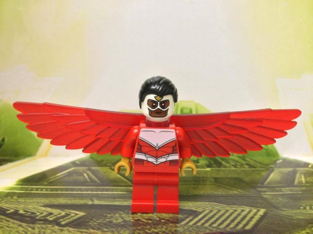 LEGO Marvel Falcon Minifigure with Serious Face Expression