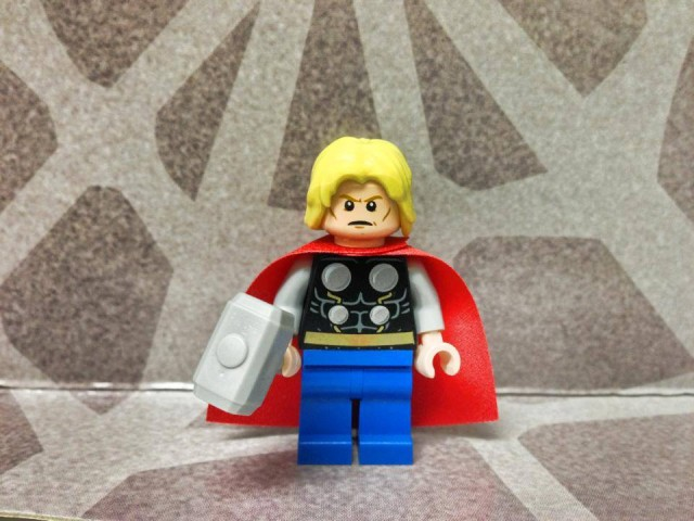 LEGO Thor Minifigure from LEGO 76018 Hulk Lab Smash