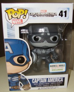 Marvel Captain America Black and White POP Vinyls Funko Exclusive Barnes and Noble